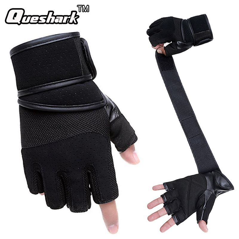 Half Finger Wrist Wrap Straps Gym Gloves Fitness Crossfit Dumbbell Gloves Workout Powerlifting Exercise Training Sports Mittens