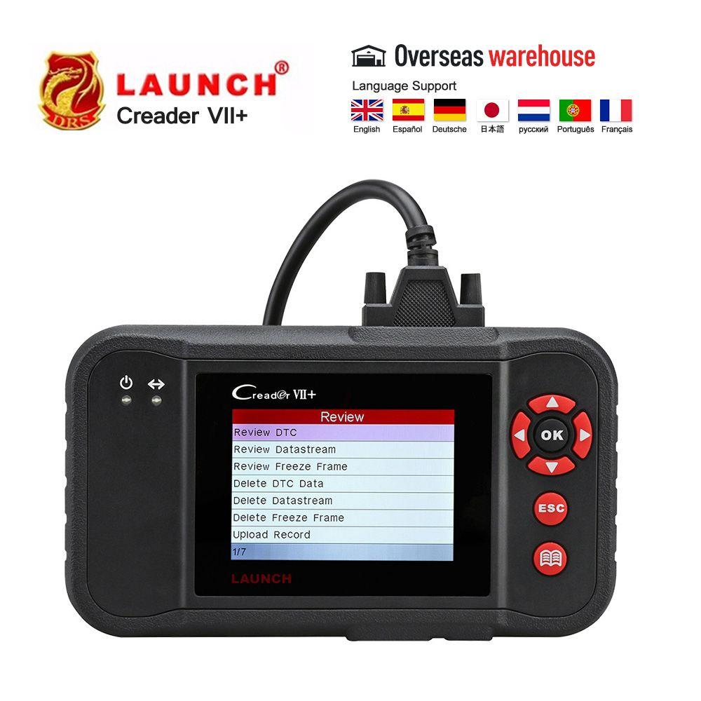 Starten X431 Creader VII Plus VII + CR123 Auto Code Reader OBDII Automotiv Umgeben Diagnose Werkzeug OBD2 Scanner als CRP123 obd2 code reader