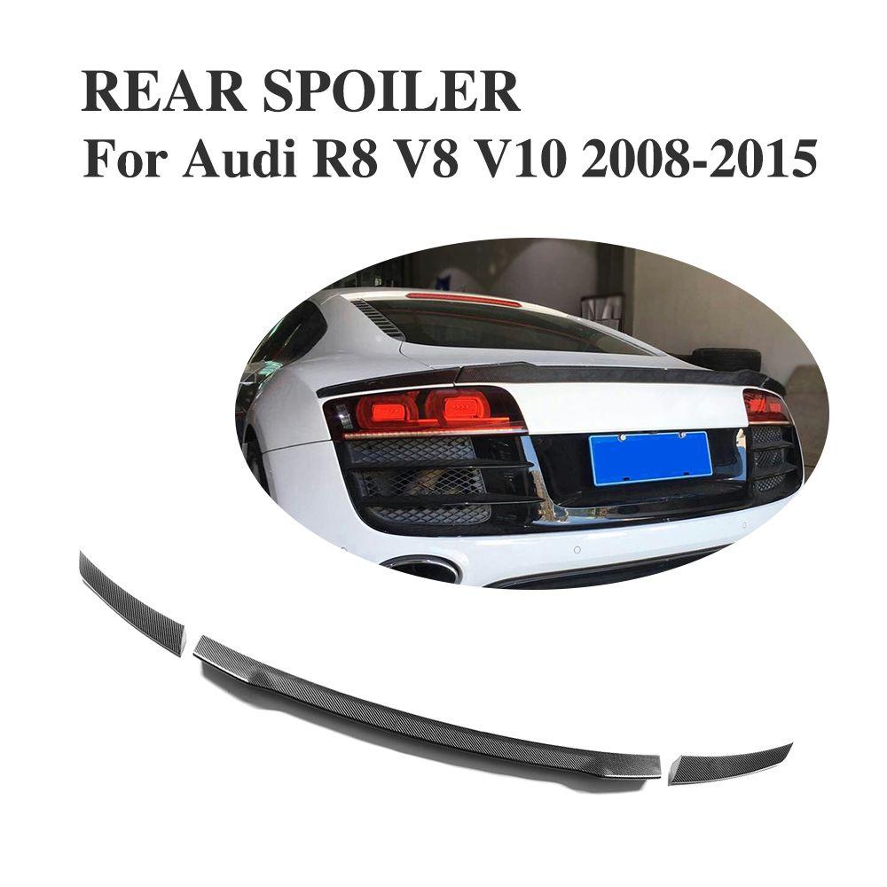 Custom Tuning Carbon Faser Auto Hinten trunk lip spoiler Flügel für Audi R8 GT V8 V10 2008-2016 3 PCS