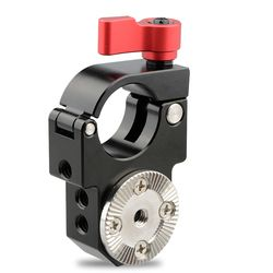 CAMVATE 25mm Single Rod Clamp with Arri Rosette Lock for Ronin-M Gimbal Stabilizer (Red Thumbscrew) C1589