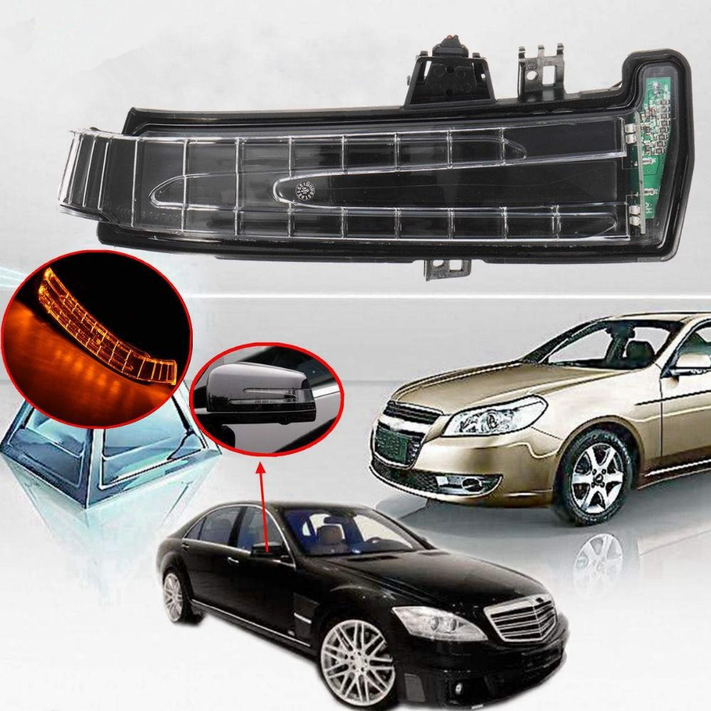 1Pcs Amber Car Side Mirror Turn Signal Light lens For Mercedes W204 W212 W221 Right/Left Side