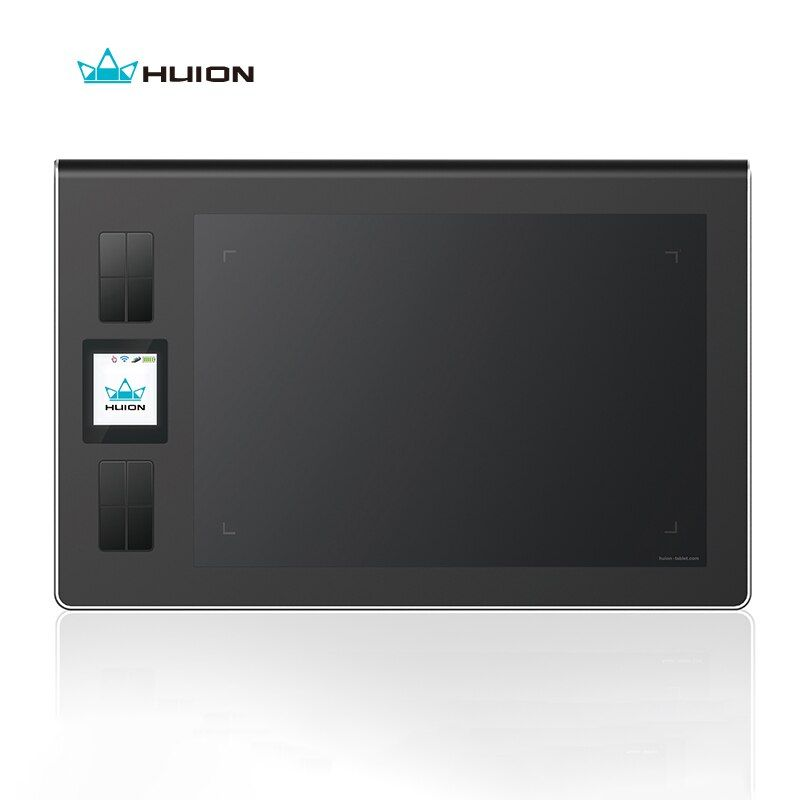HUION DWH69 9 x 6 inch Wireless Digital Tablet Graphics Drawing Pen Tablet 2048 Levels with LCD Screen and 8 Express Keys