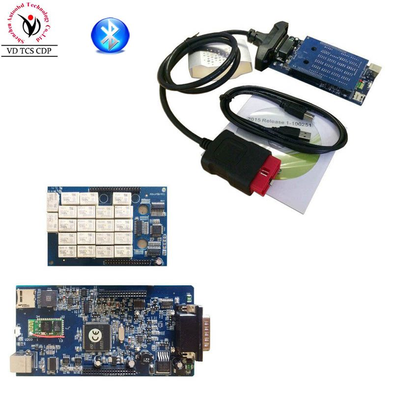 2015.R3/ 2016.R0 Software New vci with Bluetooth VD TCS CDP Pro Plus Best TWO PCB Chip Generic 3 in1 for OBD2 OBDII Cars Trucks