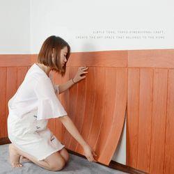 DIY 3D Wall Stiker untuk anak-anak kamar Tahan Air stiker Dinding Meliputi Wallpaper Untuk TV Latar Belakang kamar tidur ruang tamu muraux