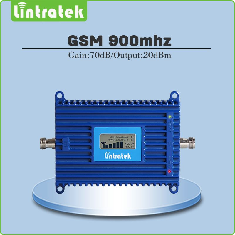 gsm repeater 900mhz repetidor de sinal <font><b>celular</b></font> Gain 70dB 2g mobile signal amplifier 900MHZ GSM signal booster with lcd display