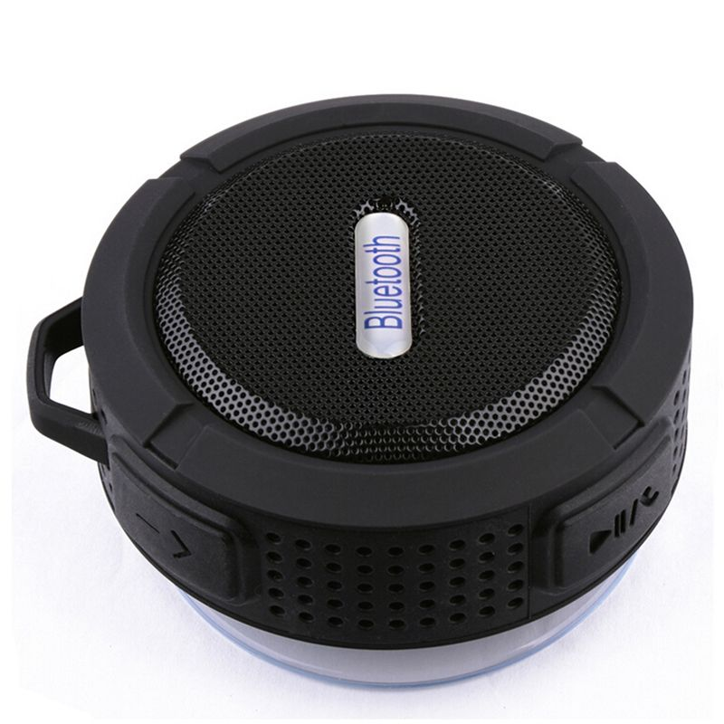 C6 Bluetooth Speaker Portable Suction Cup Stereo Fashion Wireless Waterproof Hook up Handsfree Mini Audio Speaker with Mic