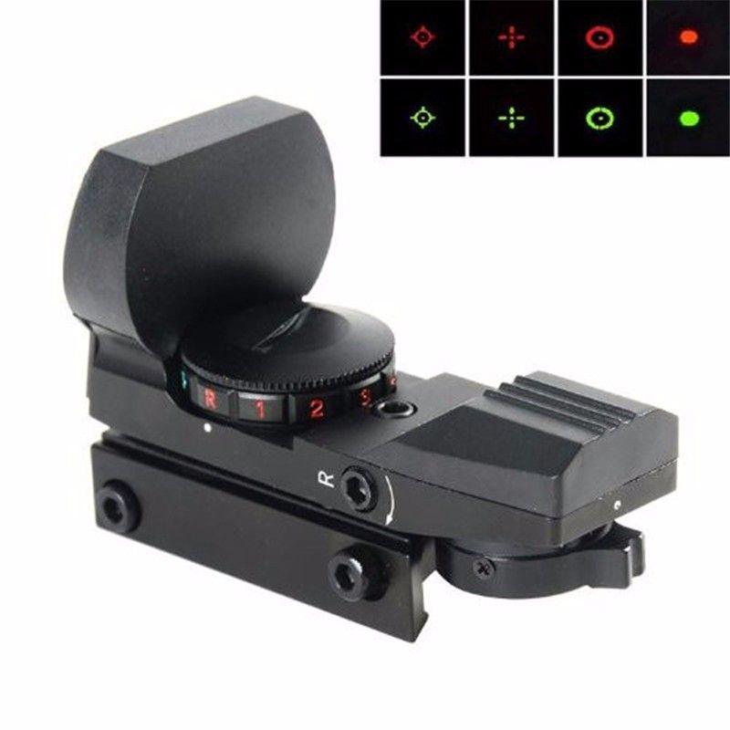 Vente chaude Chasse lunettes de Visée Lunette de visée Laser Gun Sight avec Reflex Red Green Dot Portée pour Picatinny Rail