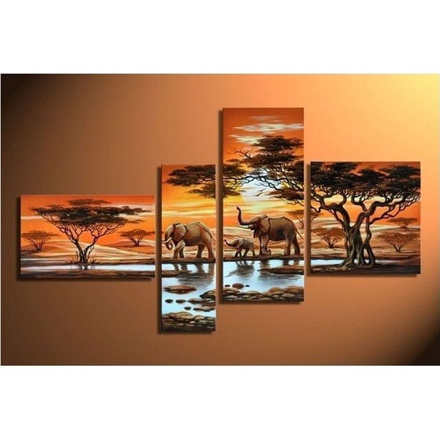 3d 4pcs diamond painting cross stitch painting full square drill embroidery rhinestones painting 4pcs kits triptych painting
