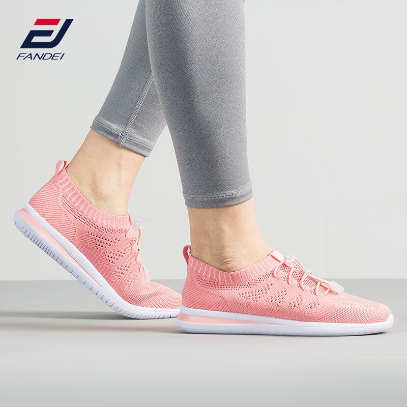 FANDEI SPRING SUMMER running shoes for women outdoor walking jogging shoes sock sneakers women breathable mesh cushioned sole