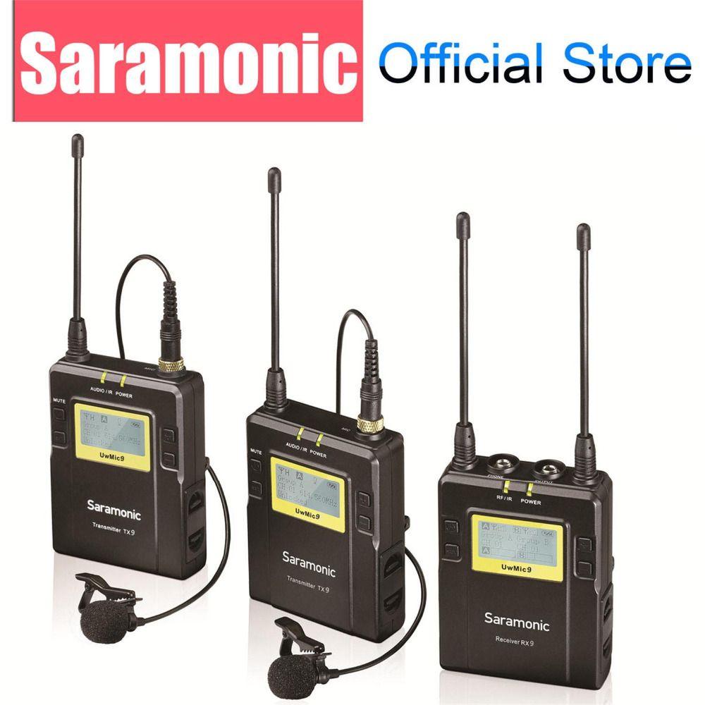 Saramonic UWMIC9 UHF vidéo émission entretien Lavalier système de Microphone sans fil pour Canon Nikon DSLR caméra Sony caméscope