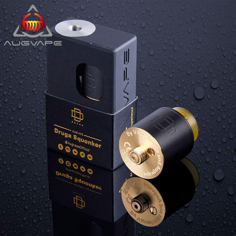 Augvape Druga Squonker box 22mm Druga RDA Original Electronic Cigarette Kit Single Coil Splendid Flavor Work with 18650 Battery