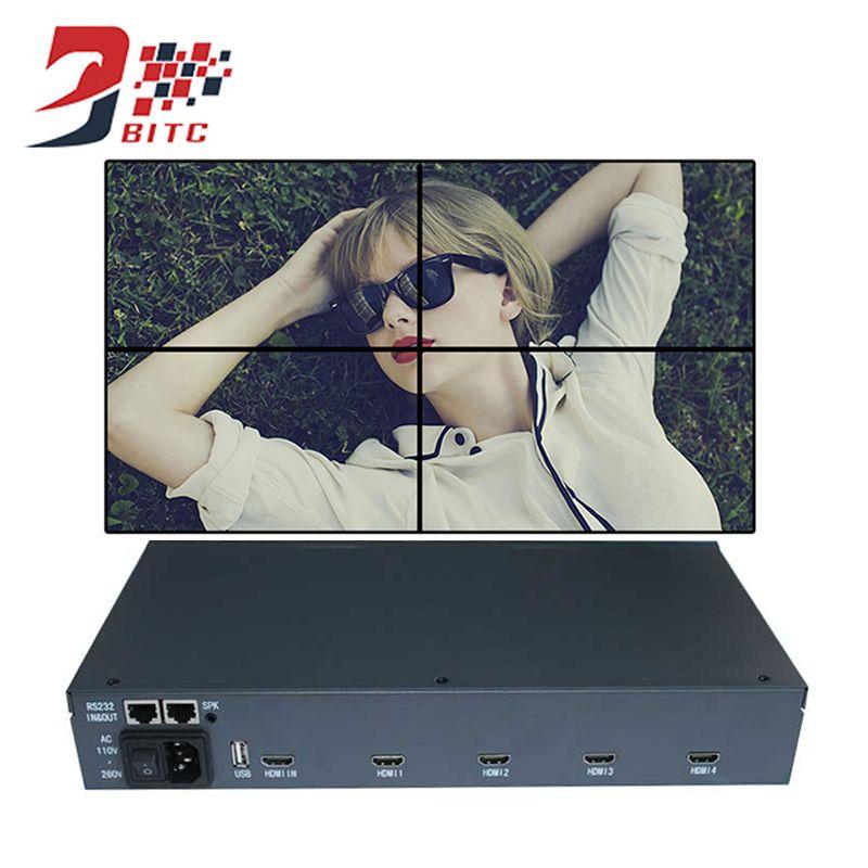 SZBITC Video Wall Controller 2x2 1080P HDMI 4 TV Screen Splicing processor 180 Degrees Image Rotate