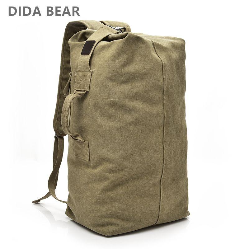 2018 Large Capacity Rucksack Man Travel Bag Mountaineering Backpack Male Luggage Boys Canvas Bucket Shoulder Bags Men Backpacks