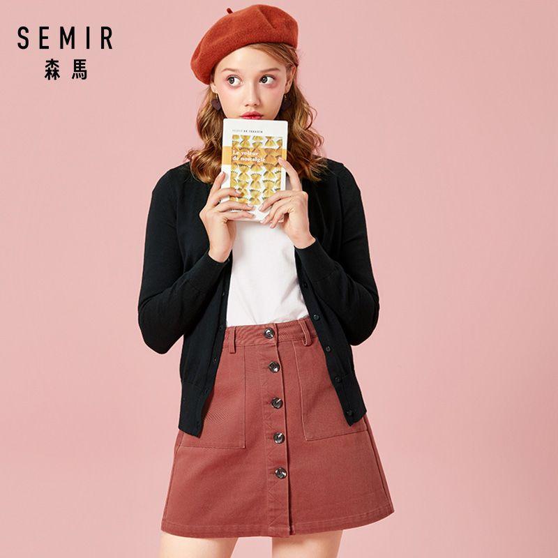SEMIR tricoté Cardigan chandail femmes 2019 printemps Simple solide fond droit vêtements pull mode Cardigan pour femme