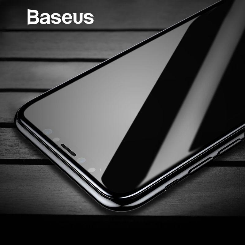 Baseus verre trempé Pour iPhone X protecteur d'écran 4D Surface Pleine Couverture En Verre Pour iPhone X film de protection Couverture 0.3mm film mince