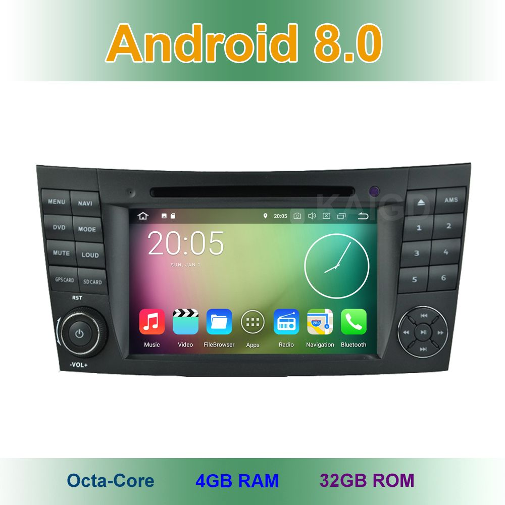 8 core Android 8.0 Car DVD Player for Mercedes/Benz W209 W463 W219 W211 E280 E320 E350 E200 E220 E240 E270 with GPS Radio BT