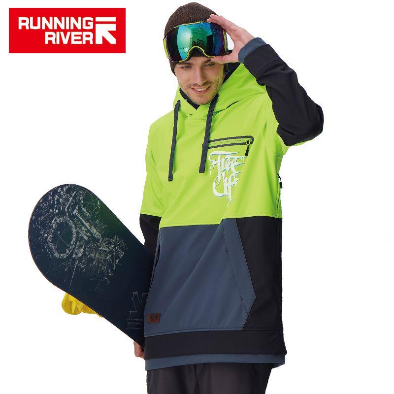 RUNNING RIVER Бренд Мужской Сноуборд Балахон 2017 Высокого Качества С Капюшоном Спорт Сноуборд Куртка 5 Цвета 3 Размеры # G6225