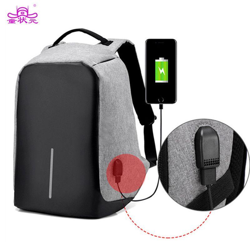 Многофункциональный USB зарядки Для мужчин 15 дюймовый ноутбук Рюкзаки для подростков Модные мужские Mochila отдыха и путешествий рюкзак anti theft м...