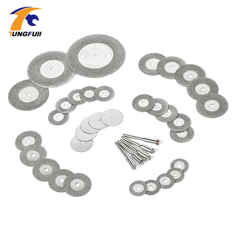38pcs diamond cutting disc for dremel tools accessories mini saw blade diamond grinding wheel set rotary tool wheel circular saw