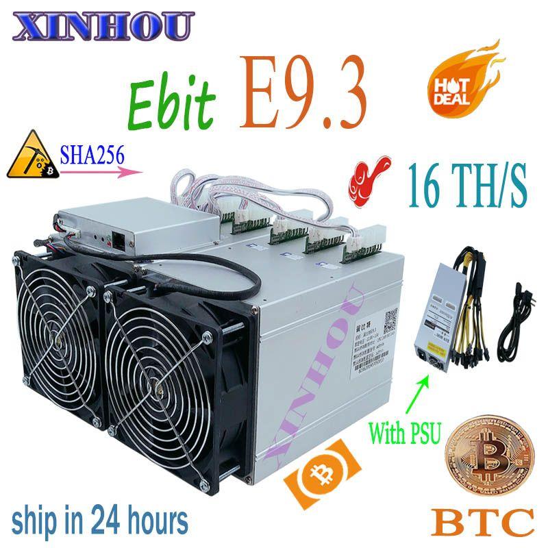 BTC BCH Miner Ebit E9.3 16TH/s SHA256 Bitcoin Asic miner mit NETZTEIL besser als E9i antminer s9 S9K s9j WhatsMiner M3X M3 T1 T2T