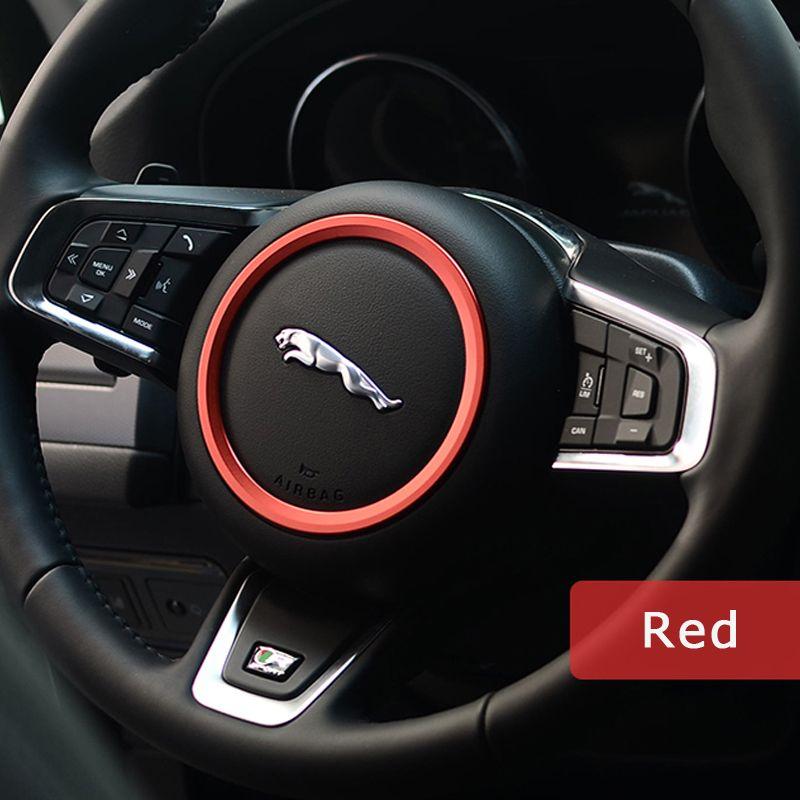 DSYCAR alliage de Zinc voiture volant décoration anneau autocollant logo décalcomanies voiture style Modification pour Jaguar XF XE F-PACE F-TYPE