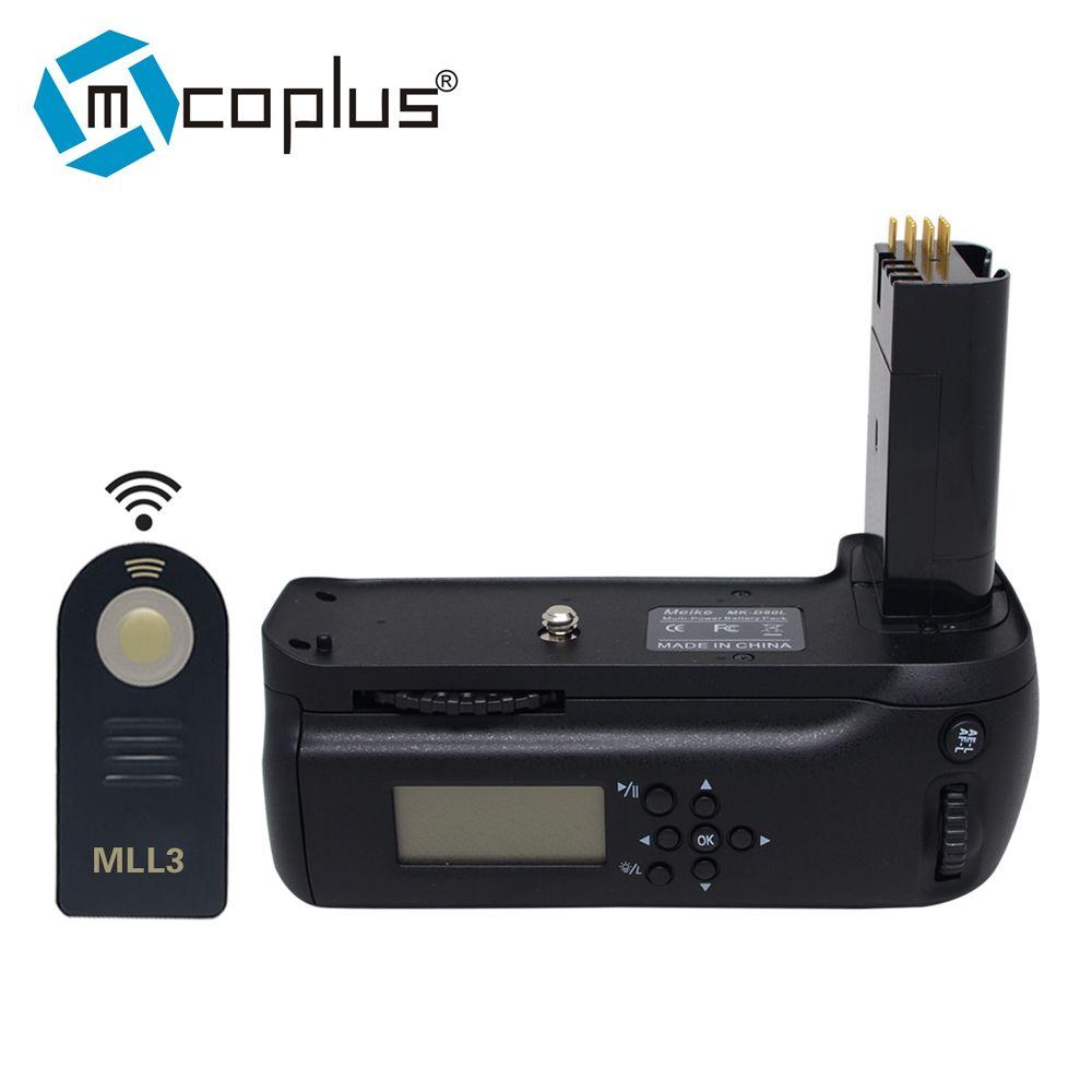 Mcoplus Venidice VD-D80 prise de batterie LCD pour Nikon D80 D90 MB-D80 appareil photo numérique reflex + télécommande ML-L3 comme Meike MK-D80L