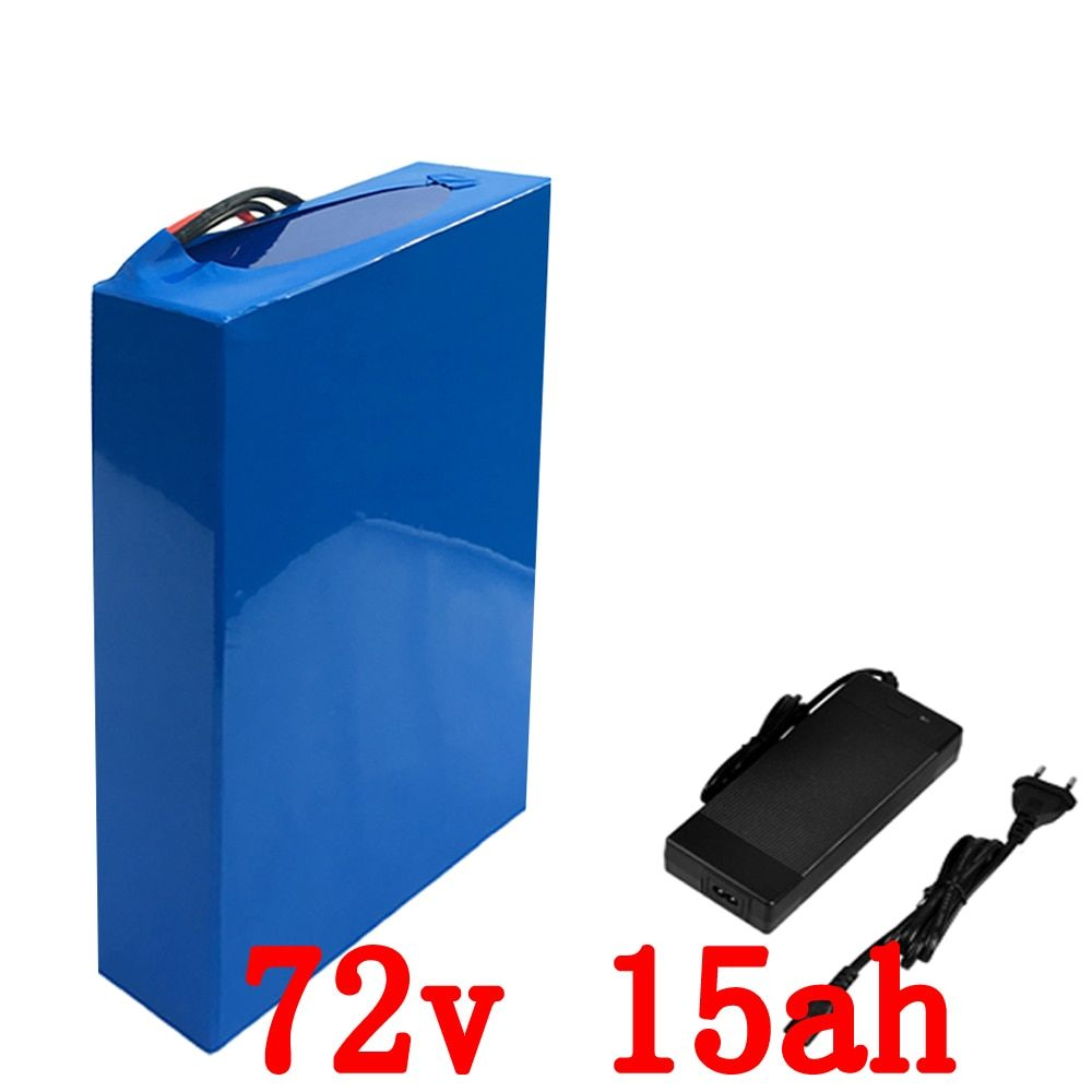 72v 15ah 1500w Ebike battery 26650 Lithium battery pack Electric bicycle battery with 84v 2A charger 15A BMS free shipping
