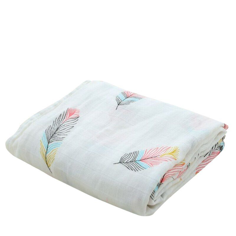 Bamboo Cotton Soft Baby Swaddle Muslin Wrap Infant Baby Bedding Muslin Baby Blanket For Newborn