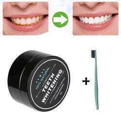 MAANGE dientes blanqueamiento polvo Natural orgánico activado carbón de bambú pasta de dientes