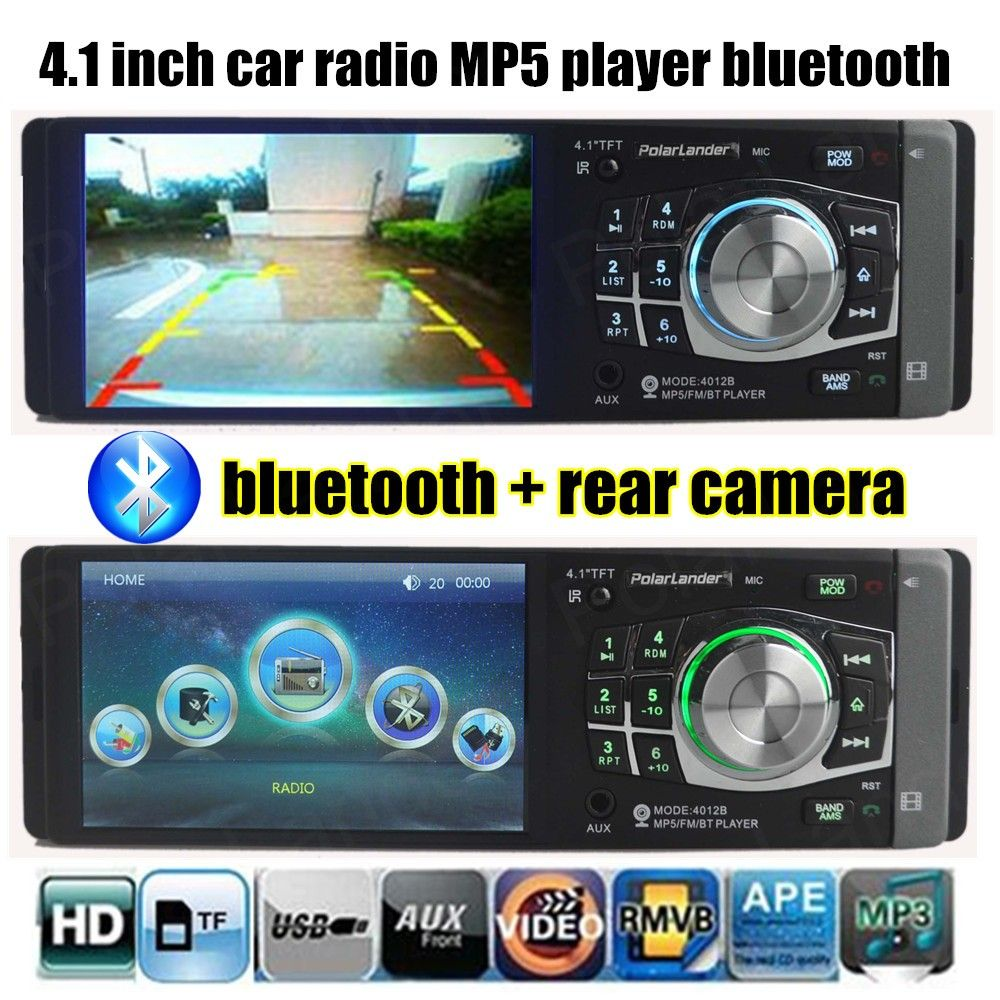 Car Radio Player bluetooth 4'' HD MP5 12V Car Audio Auto Steoro Car MP4 Support rear view camera Steering wheel remote control