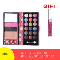 Eye Makeup Set 18 Warna Shimmer Eyeshadow Palet + Perona Pipi + 3 Warna Lipstik + Alis Bubuk + Bronzer Kontur shadow Kit