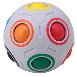 2018 1Pc Creative Magic Cube Speed Rainbow Puzzles Ball Football Educational Learning Toys for Children Adult Kids Toys