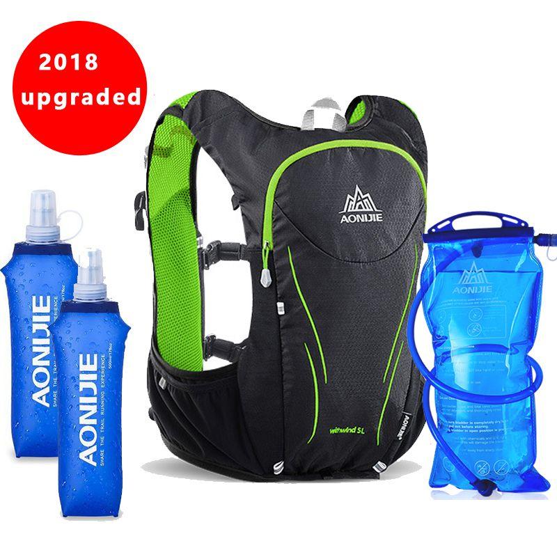 2018 AONIJIE 5L Outdoor-sportarten Rucksack Frauen/Männer Marathon Trink Weste Pack für Austausch Radfahren Wandern Wasser Tasche