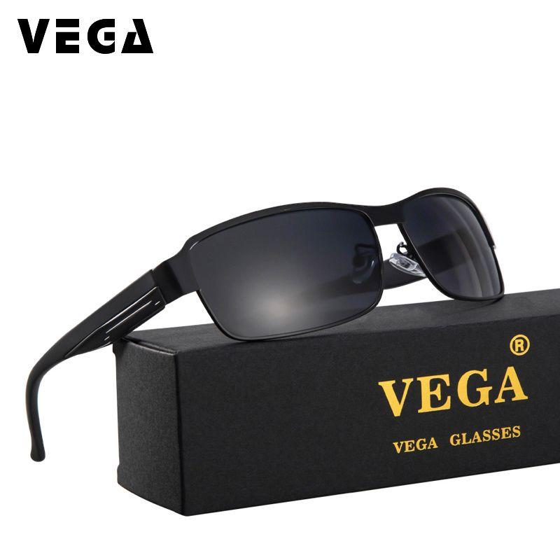 VEGA Cool carré lunettes de soleil polarisées hommes Anti-réfléchissant lunettes métal cadre 8485