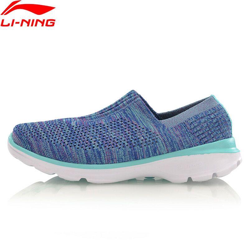 Li-Ning Women Walking Shoes Easy Walker Breathable Light Fitness LiNing Sneakers Sports Shoes AGCM112 YXB048