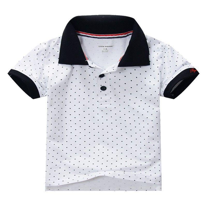Детская летняя одежда высокого качества из 100% хлопка для мальчиков детская футболка с короткими рукавами футболка-поло для мальчика горяча...