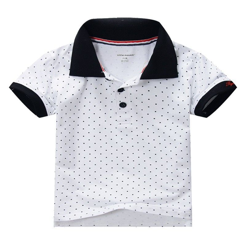 Hot Sale High Quality 100% Cotton Summer Baby Boys Clothes Short Sleeve Kids Tshirt  Boys Polo Shirt