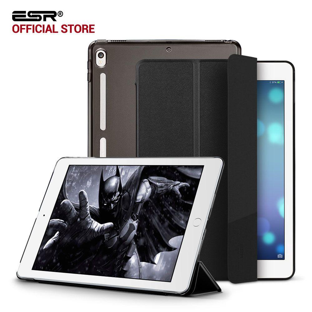 Cas pour iPad Pro 10.5, ESR PU En Cuir Translucide Retour Hybride Souple Pare-chocs Coin Slim Smart Cover case pour iPad Pro 10.5 pouces