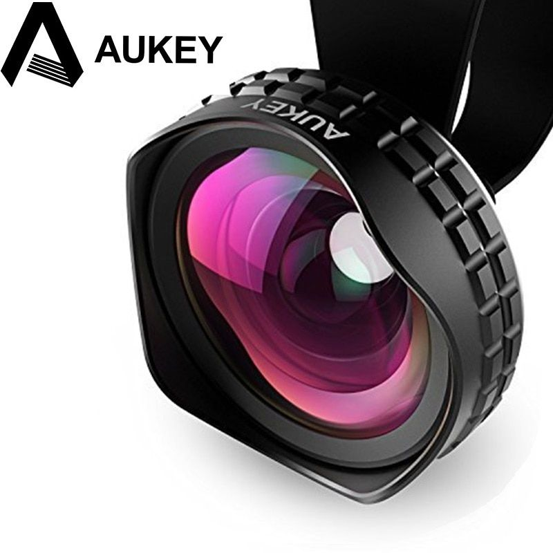 AUKEY Lens 18MM HD Wide Angle Optic Pro Lens Cell Phone Camera Lens Kit 2X for Samsung galaxy s8 iPhone Xiaomi HTC Phone Len