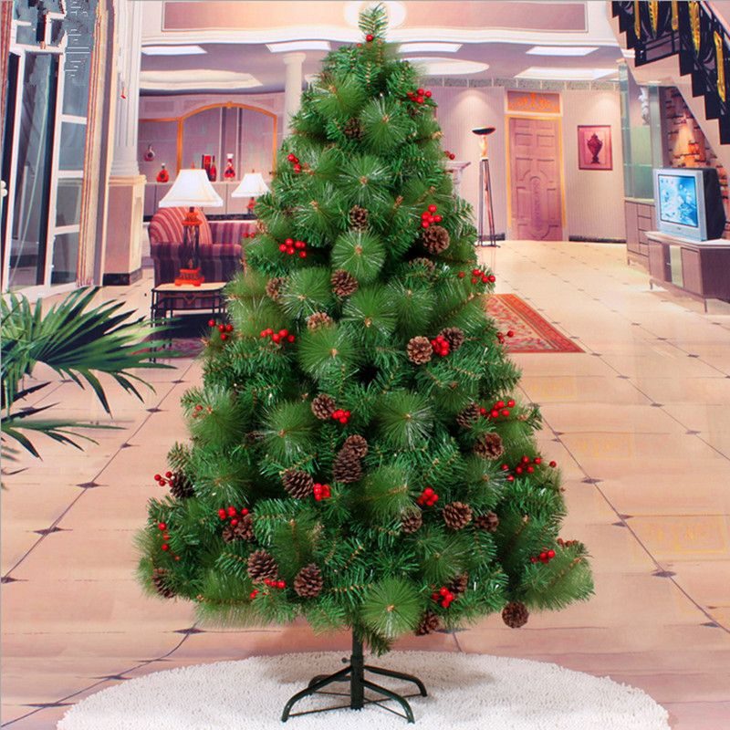 Mixed pine needles 1.5 m / 150CM red berries pinecone Christmas tree quality high-grade encryption Christmas decorations