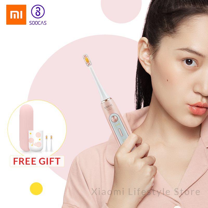 Xiaomi Mijia Soocas X5 brosse à dents électrique sonique mise à niveau adulte imperméable à l'eau Ultra sonique automatique brosse à dents USB Rechargeable