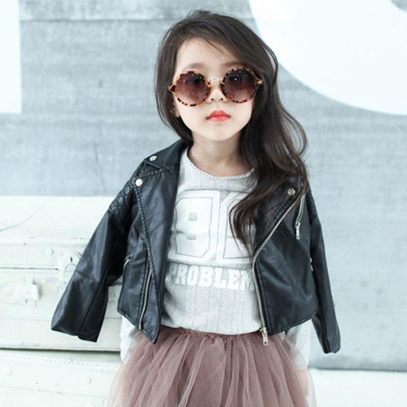 Dreamshining primavera niños chaqueta pu cuero Niñas Chaquetas ropa niños Outwear para bebé Niñas Moda hombre Abrigos traje