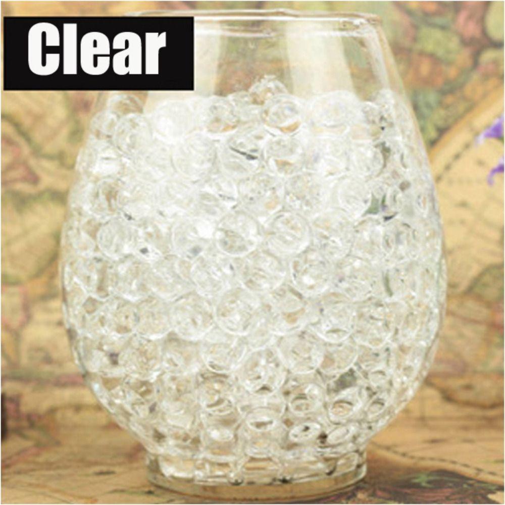 1 kg/beutel klare farben Perle Geformt Crystal Boden Wasser Perlen Schlamm Wachsen Magie Jelly Bälle Wohnkultur Aqua Boden Großhandel