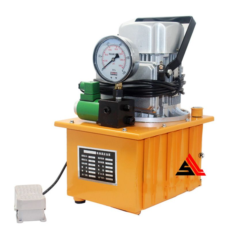1PC GYB-700A 220v 70MPa Hydraulic electric pump oil pressure Pedal - with solenoid valve oil pressure pump