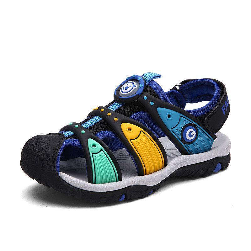 Zapatos para niños 2017 nuevos niños del verano recortes sandalias sandalias de los niños de la lona lluvia sandalias transpirable zapatos de los planos 2-13 años