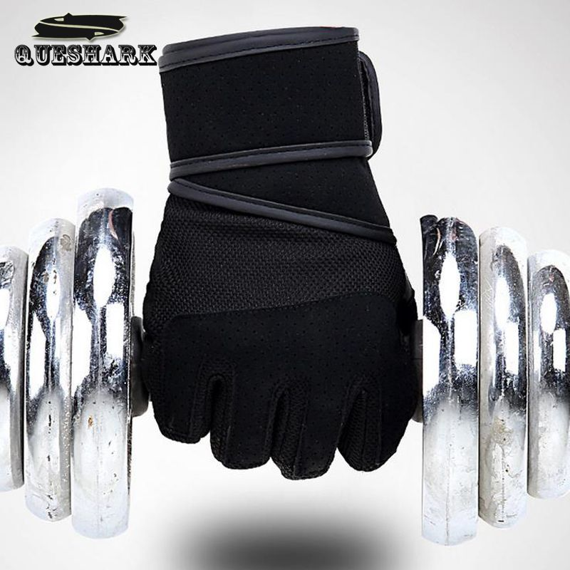 Fitness Weight Lifting Dumbbell Gloves Wrist Wrap PU Professional Men Powerlifting Muscle Training Sport Workout Crossfit Gloves