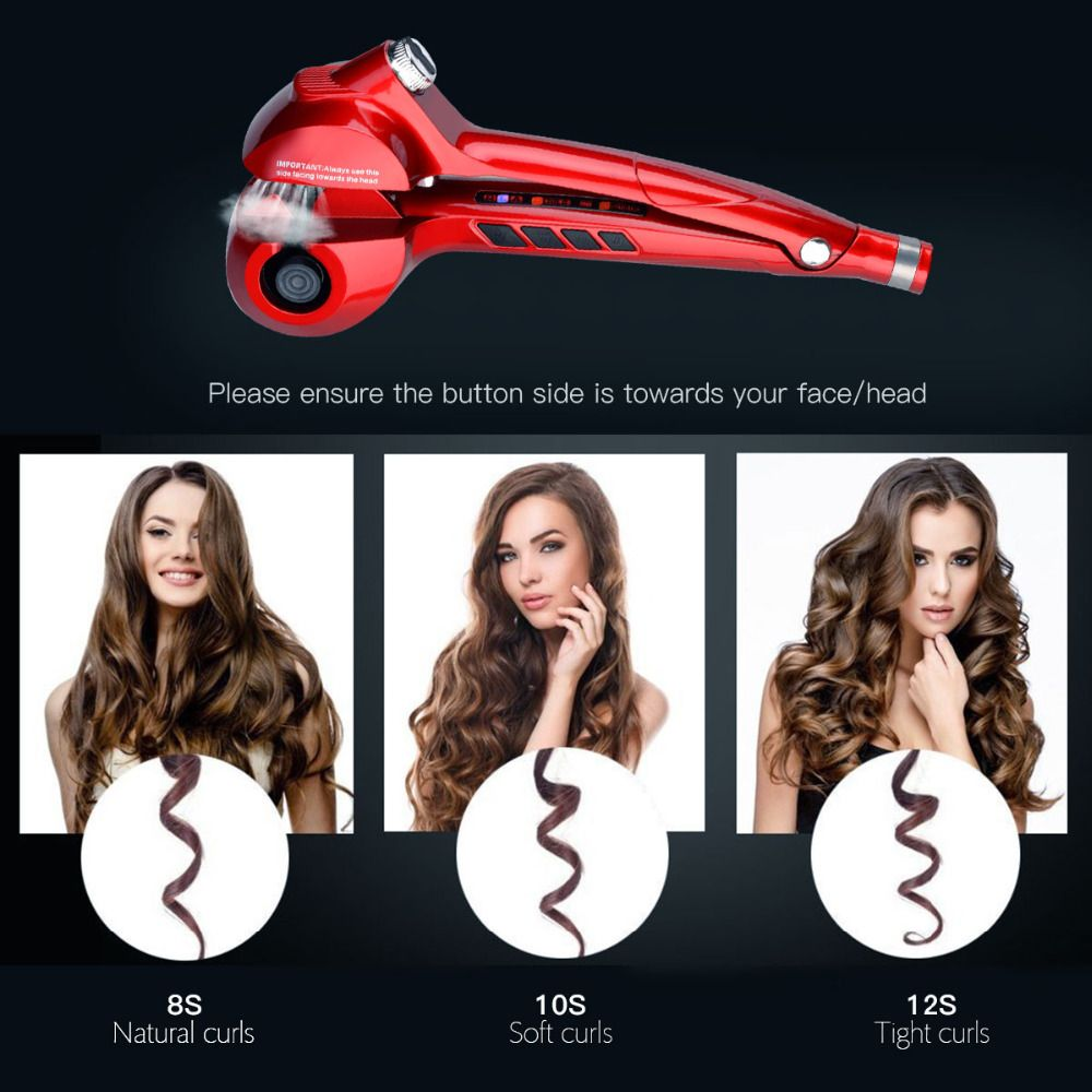 Steam Hair Curler Professional Vapor Hair Curling Iron LED Display Ceramic Curling Wand Automatic Steampod Hair Styling Tool 40