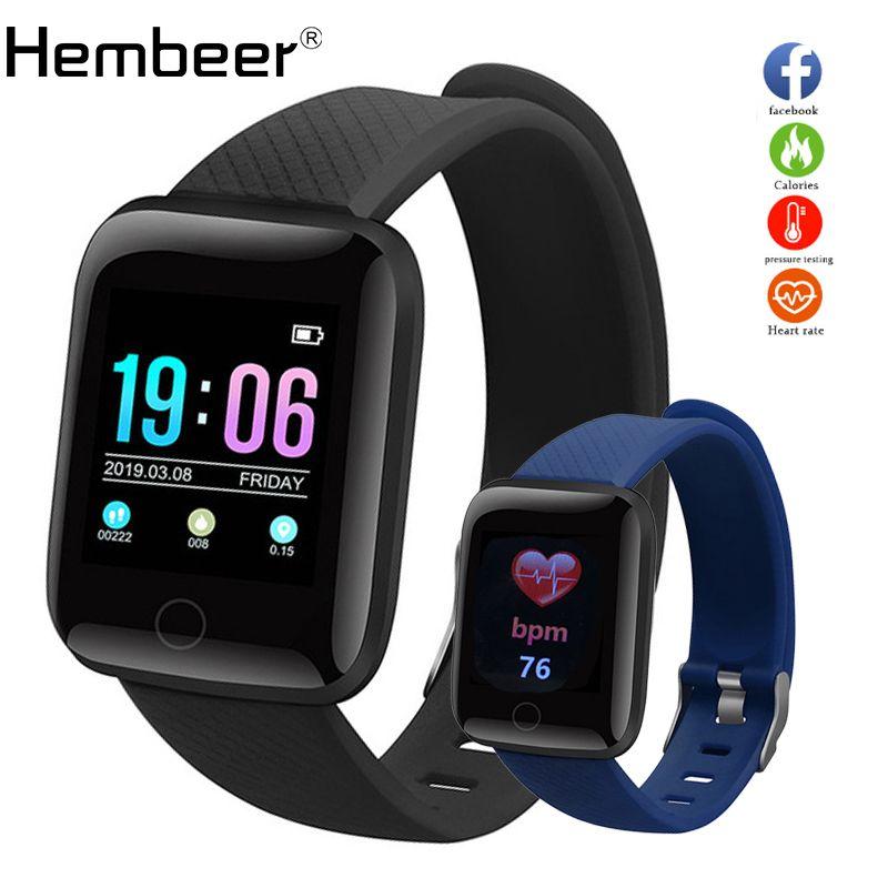 Hembeer D13 Smart Watch Men Women For Android Apple Phone Waterproof Heart Rate Tracker Blood Pressure Oxygen Sport Smartwatch