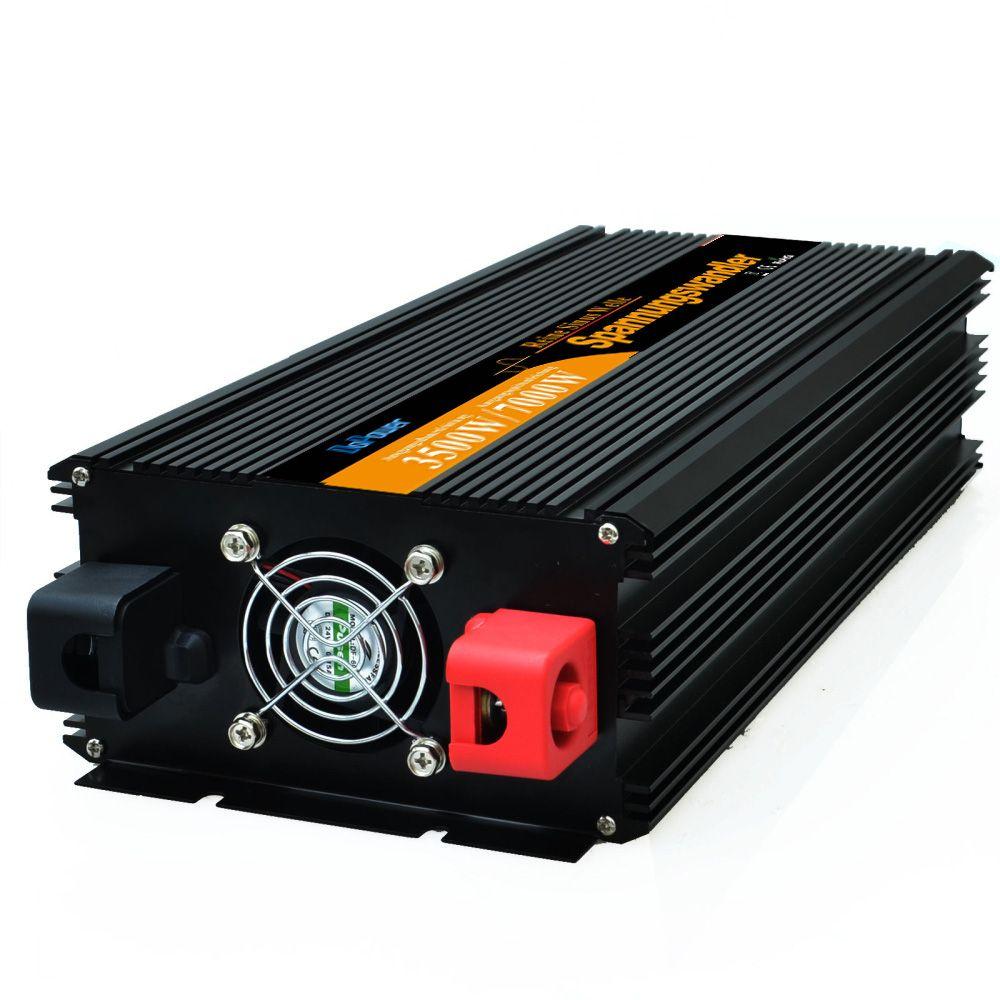 12 В 3500 Вт/7000 Вт пик чистая синусоида солнечный инвертор AC DC инвертор