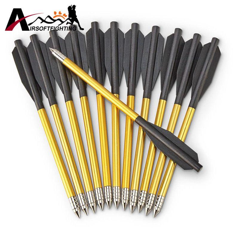 60 Pcs/Pack Outdoor Shooting Hunting Aluminum Tips Bolt 6.5